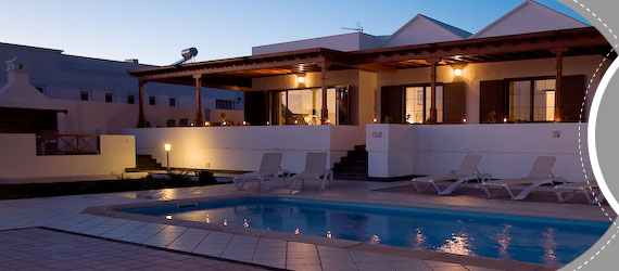 Villa holidays Lanzarote, Villas Lanzarote with swimming pools in the sun